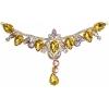 Crystal Motifs T-shape 17x8.5cm Yellow Aurora Borealis/gold